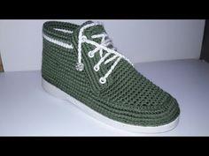 Çeyizlik Boncuklu Patik Yapımı - YouTube Knitted Booties, Crochet Boots, Crochet Slippers, Knit Crochet, Crochet Flip Flops, Shoe Crafts, Crochet Sandals, Shoe Pattern, Slipper Boots