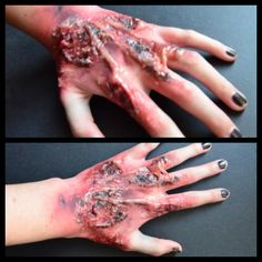 Burnt Hand special effects makeup for halloween Check out the rest of my work: https://www.behance.net/gallery/Special-Effects-Makeup/11391217