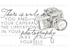PRINTABLE 8x10 Ernst Haas Photography Quote frase | frases | fotografia | fotografar