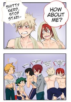 Jealous Bakugou but also tsundere My Hero Academia Shouto, Hero Academia Characters, Anime Characters, Tsundere, Anime W, Familia Anime, Villain Deku, Boku No Hero Academy, Cute Gay