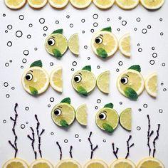 Lemon & Lime Fish by D A K O T A  S K Y   (@darynakossar)