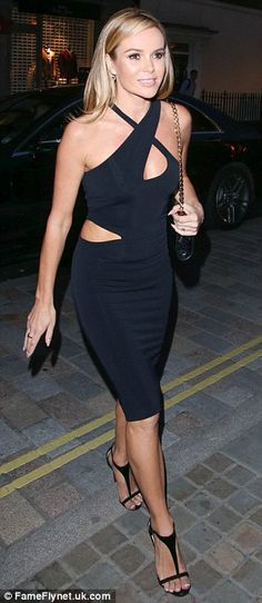 She's definitely got talent: Amanda Holden, showed off an incredibly toned body in her figure hugging dress Hampshire, Britain's Got Talent, Amanda Holden, Cheryl Cole, Tv Presenters, British Style, Beautiful Actresses, Sexy Legs, Beauty Women