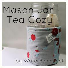 Whip up a mason jar tea cozy with WaterPenny.net on Moda Bake Shop.