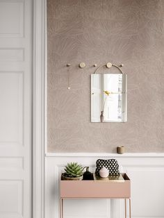 Hook - Brass - two sizes, Ferm Living, Denmark.  Entry hall.