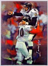Trent Dilfer, Ravens #2 Sketch Card Limited 2/25 Artist Edward Vela Signed.