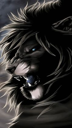 Black Danger Lion For Android Phone Mobile Theme Animals And Pets, Funny Animals, Cute Animals, Fantasy Creatures, Mythical Creatures, Lion Noir, Animiertes Gif, Animated Gif, Lion Wallpaper