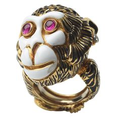 1stdibs - DAVID WEBB Ruby, Enamel, Diamond and Gold Monkey Ring explore items from 1,700  global dealers at 1stdibs.com