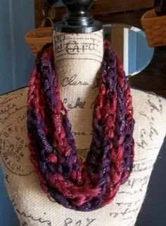 Loopy Chain Infinity Scarf  Handmade by FluffyGoatFeathers on Etsy, $11.00