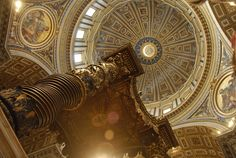 Saint Peter's, Rome: The dome and Bernini's canopy