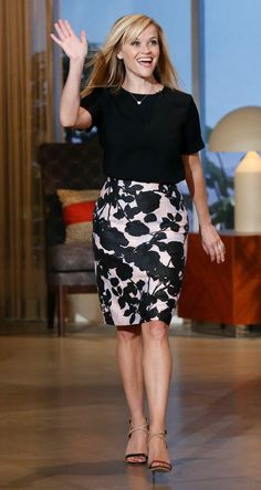Reese Witherspoon in the classic black & white on The Queen Latifah Show