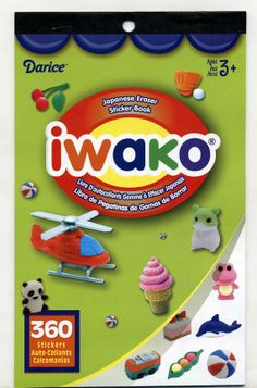 Japanese Erasers.......In Sticker Form! $3.99 for a booklet of 360 Stickers Free Shipping!