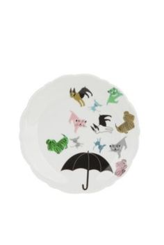Raining cats and dogs plate