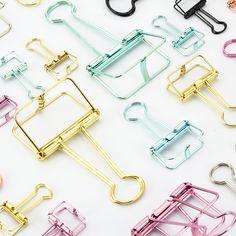 Reasonable Metal Binder Clips Cute Paper Clip Diy School Office Supplies Stationary Office Binding Supplies