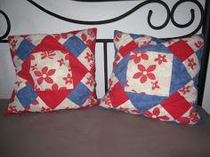 Patchwork Kissen aus altem Hawaihemd nähen, refashion old men`s shirt into a pillow #diy #sew #nähen #pillow #refashion