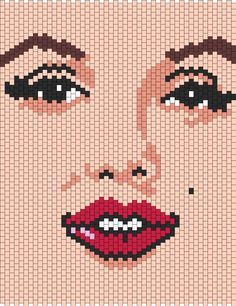 Marilyn Monroe bead pattern. Would be cool to make as a cross-stitch.