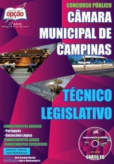 Apostila Concurso Câmara Municipal de Campinas / SP - 2014: - Cargo: Técnico Legislativo