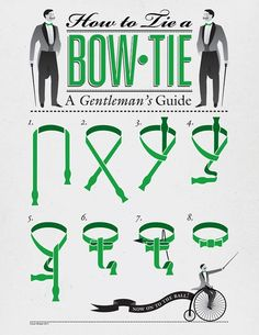 How to tie a bow tie. Might be good to know for future reference.