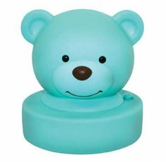 Goodnight Bear Night Light - Aqua - $12.95 - Adorable and super sweet aqua bear night light!  No messy cords required as this cute night light is battery operated, creating a soft and comforting glow at the press of a button. #littlebooteek #boys #bedroom #nursery #decor #lighting