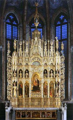 Antonio Vivarini e Giovanni d'Alemagna - Polittico della Vergine -  c. 1444 - Venezia, chiesa di San Zaccaria, cappella di San Tarasio