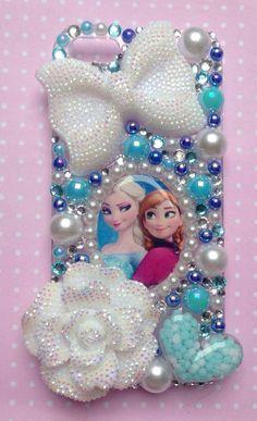 Frozen inspired elsa  anna hard bling case white by SparkleMeGlam, £14.99
