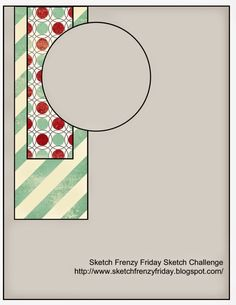Stampin' Fun with Diana: Sketch Frenzy Friday Sketch Challenge: Get Your Santa… Scrapbook Sketches, Card Sketches, Card Tricks, Scrapbooking, Sketch Inspiration, Card Templates, Design Templates, Birthday Balloons, Paper Cards