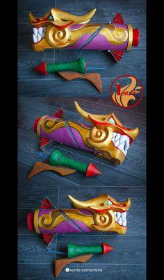 "Firecracker Jinx   ""Tabiti Props"": craft, cosplay, roleplay, LARP, replicas https://www.etsy.com/shop/TabitiProps"