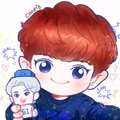 Chanbaek Fanart, Baekhyun Fanart, Kpop Fanart, Disney Pin Up, Disney Fan Art, Kpop Exo, Exo Chanyeol, Exo Cartoon, Chibi