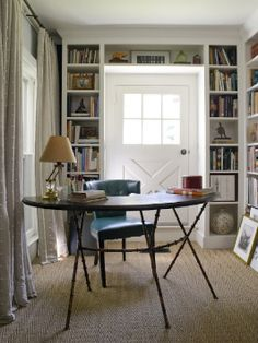 Bookcases around anything....the best.