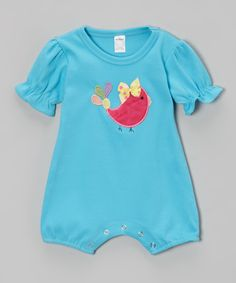Turquoise Bird Romper - Infant