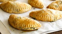 Spinach and Feta Foldovers - These tasty appetizers take their inspiration from the Greek pastry called spanakopita.