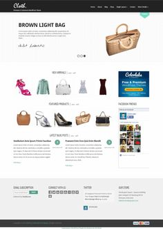 The Cloth WordPress theme offers boutiques, retailers and indie labels and e-commerce solution to sell through their website. Cloth will give the customers a smooth, attractive, easy, fun shopping experience and they are more likely to complete the purchase and they are more likely to come back again later.