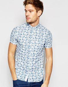 Brave+Soul+Sea+Print+Short+Sleeve+Shirt