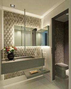 Best Cool Tips: Bathroom Remodel Wainscotting Interior Design bathroom remodel ideas classic.Bathroom Remodel Tips Basements. Contemporary Bathrooms, Modern Bathroom, Small Bathroom, Modern Sink, Bad Inspiration, Bathroom Inspiration, Wc Decoration, Home Design, Interior Design