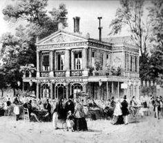 Les pavillons des Champs-Elysées côté nord en 1900