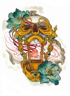 Pin by Luzma Carrillo on Tattoo flash Lamp Tattoo, Lantern Tattoo, Neo Tattoo, Tattoo Flash, Sick Drawings, Tattoo Drawings, Free Tattoo Designs, Tattoo Cream, Japanese Tattoo Art