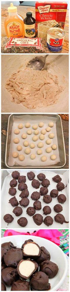 No Bake Vanilla Cake Batter Chocolate Truffles