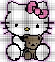 hello kitty perler bead pattern - Google Search