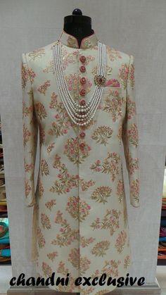 Couple Wedding Dress, Wedding Outfits For Groom, Groom Wedding Dress, Bridal Outfits, Sherwani For Men Wedding, Wedding Dresses Men Indian, Sherwani Groom, Indian Dresses, Indian Groom Dress