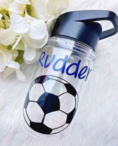 d28c9d7f30 Personalized Soccer Ball Kids Water Bottle//Soccer//Gifts for Boys//