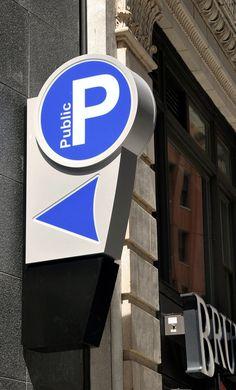 Image result for parking blade sign