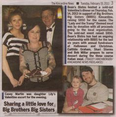 Valentine's Day Fundraiser for Big Brothers Big Sisters Kincardine    A big thank you to everyone who attended our Valentine's dinner. It was a fabulous evening and we raised $850 for Big Brothers Big Sisters Kincardine!