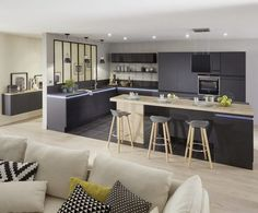 Open Concept Kitchen Room Design Ideas Page 52 of 61 Modern Kitchen Design Concept Design Ideas Kitchen Open Page room Kitchen Room Design, Living Room Kitchen, Kitchen Interior, New Kitchen, Kitchen Decor, Awesome Kitchen, Kitchen Island, Kitchen Ideas, Kitchen Counters