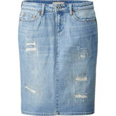 UNIQLO Women Pure Blue Japan Denim Pencil Skirt and other apparel, accessories and trends. Browse and shop 21 related looks. Cute Fashion, Modest Fashion, Apostolic Fashion, Feminine Fashion, Women's Fashion, Shirt Skirt, Denim Shirt, Jean Skirt Outfits, Jean Skirts
