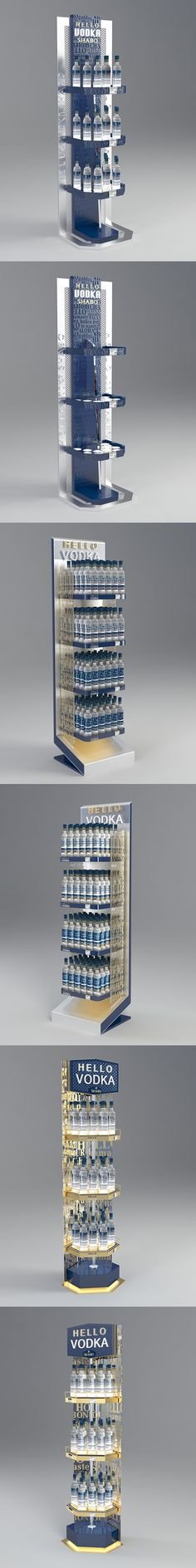 Hello Vodka Shabo stand on Behance