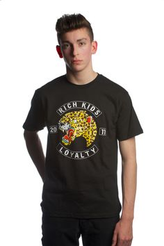 """""""King Cheetah"""" tee in Black Use promo code RKANGEL for a 15% discount off any purchase"""