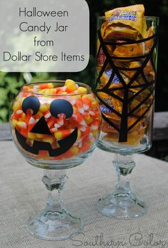 DIY Halloween : DIY Halloween Candy Jar DIY Halloween Decor
