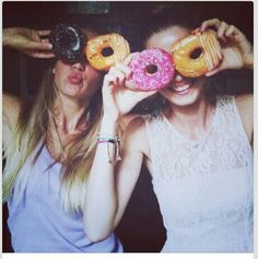 Cover your eyes with donuts simple but cute
