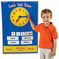 Teaching Time Pocket Chart - 5 Stars - Top Rated Products - Shop by Category - Teachers - Learning Resources®
