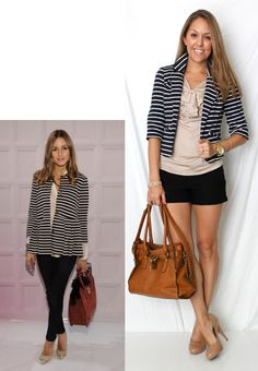 Striped blazer - wear with black skinny pants or pencil skirt - My interpretation: http://looplooks.wordpress.com/2012/04/02/in-the-navy/