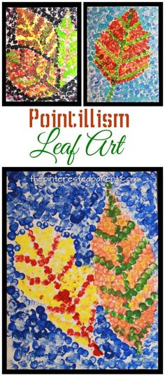 Fall Leaf Art Pointillism fall leaf art inspired by Seurat. Impressionism and painting for kidsPointillism fall leaf art inspired by Seurat. Impressionism and painting for kids Fall Crafts For Kids, Kids Crafts, Arts And Crafts, Autumn Art Ideas For Kids, Spring Crafts, Easy Crafts, Art Lessons For Kids, Art For Kids, 7 Arts